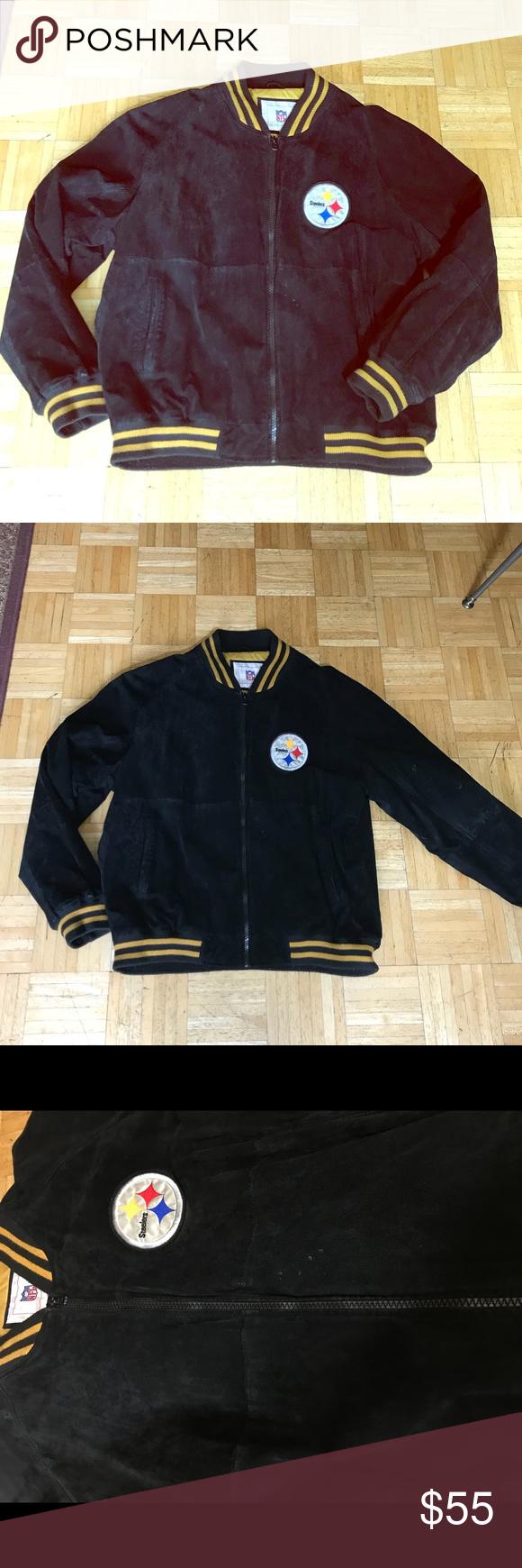 VINTAGE Steelers Leather Bomber Jacket Vintage Pittsburgh
