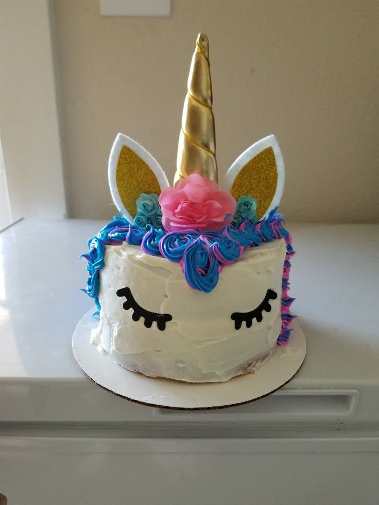 Unicorn Cake With Bestus Cake Topper Maked For An Easy Pinwin No