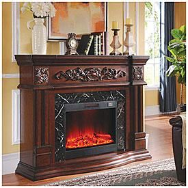 62 Grand Cherry Electric Fireplace Big Lots Places To Visit In