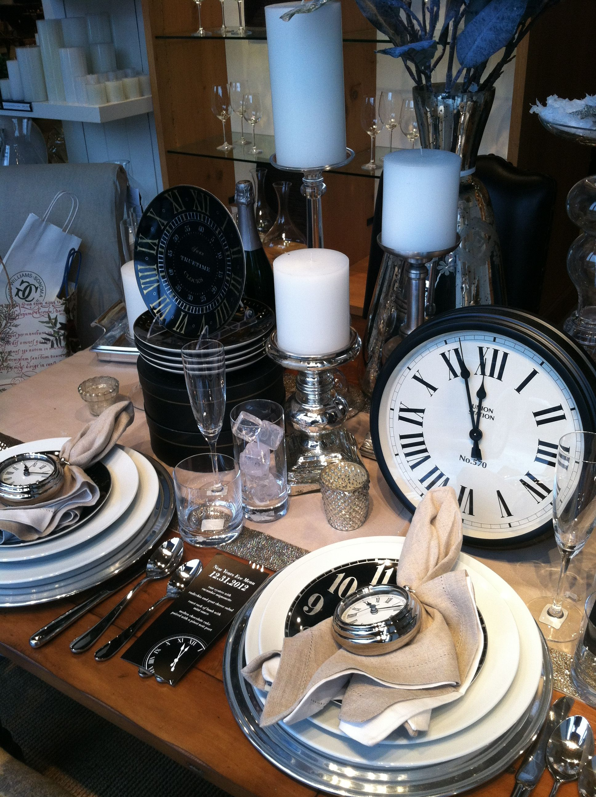 @ Pottery Barn. New Year's Eve Dinner Party!