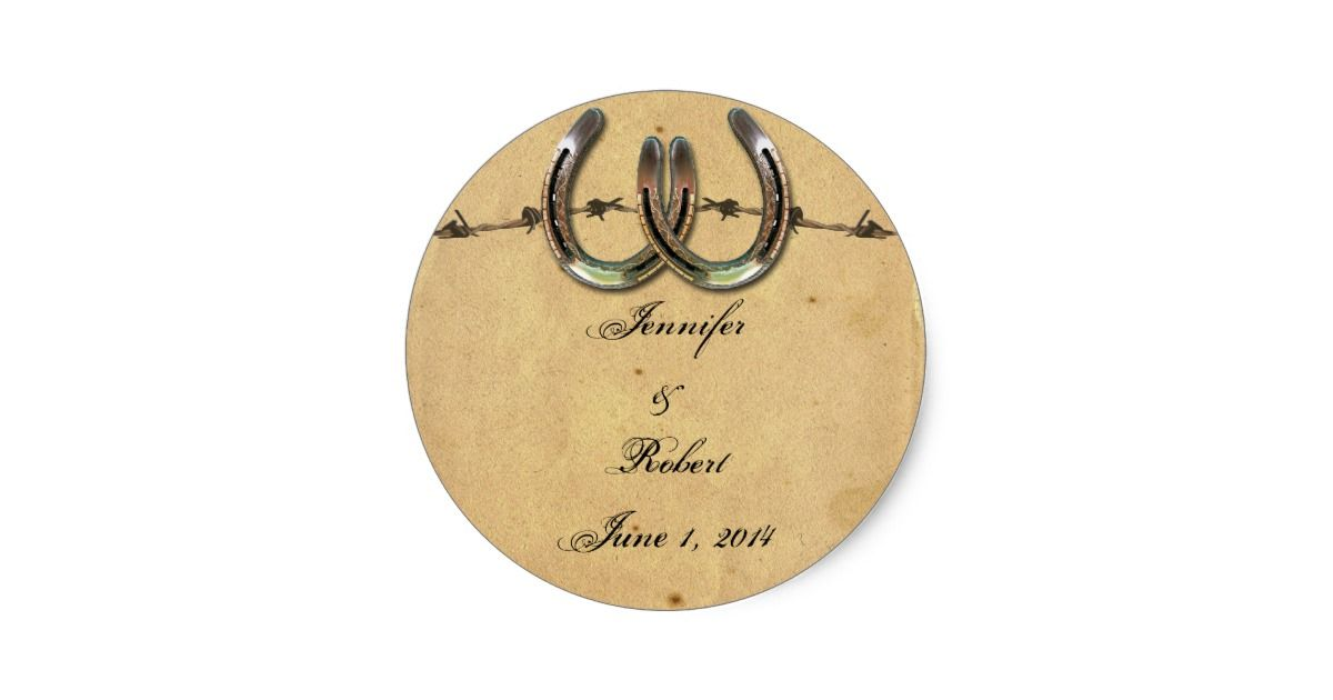 creative wedding response cards%0A Rustic Country Horseshoes Barbed Envelope Seal  Response CardsSave