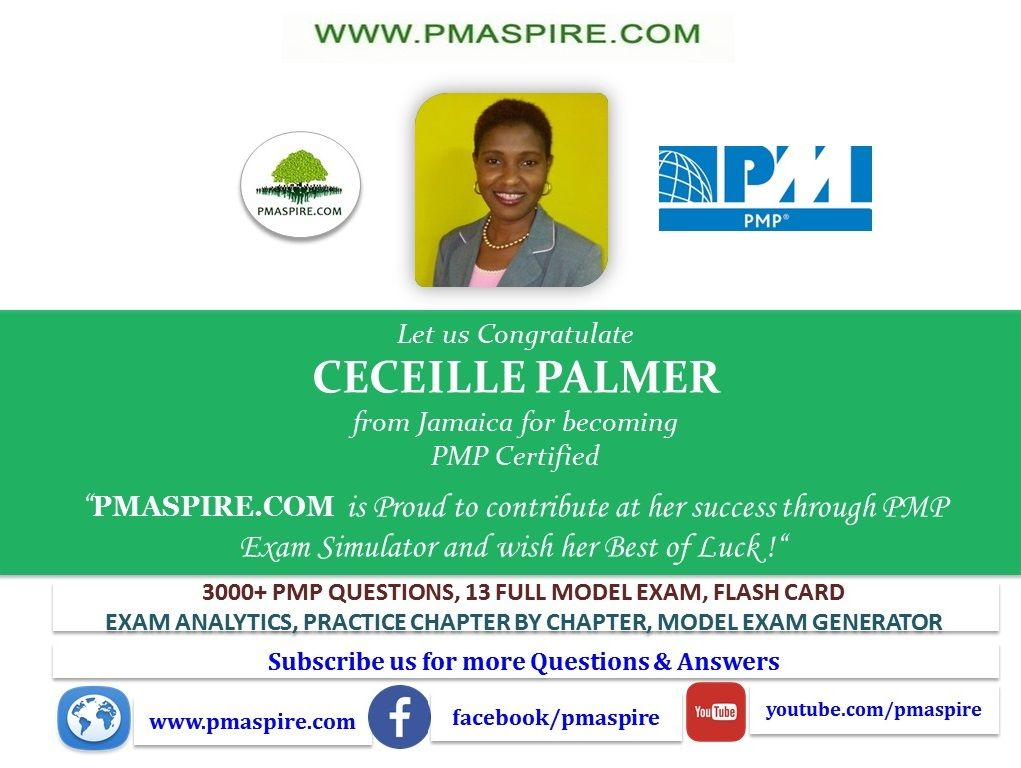 Let Us Congratulate Ceceille Palmer From Jamaica For