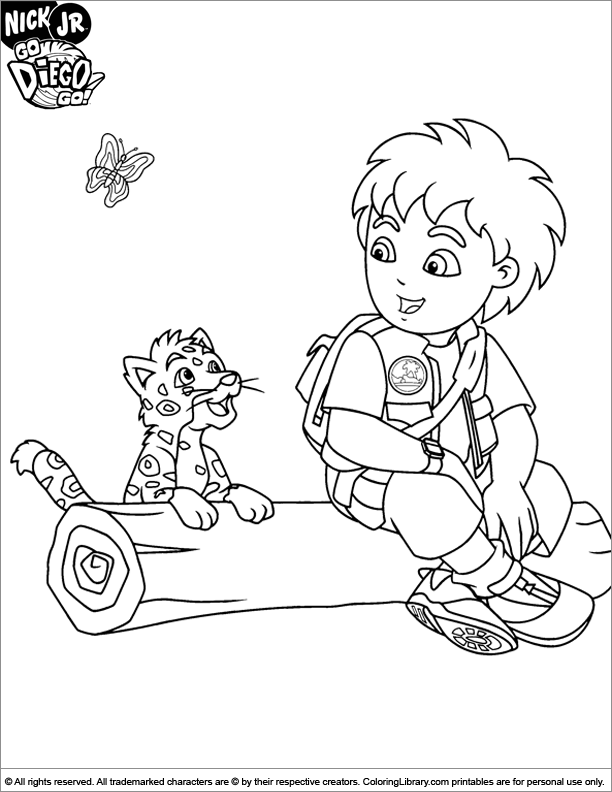 Dora Coloring Pages | Diego Coloring Pages | 792x612