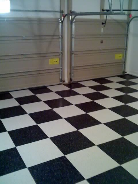 Vct Tile Now Done Looks Great The Garage Forums Guy Garages
