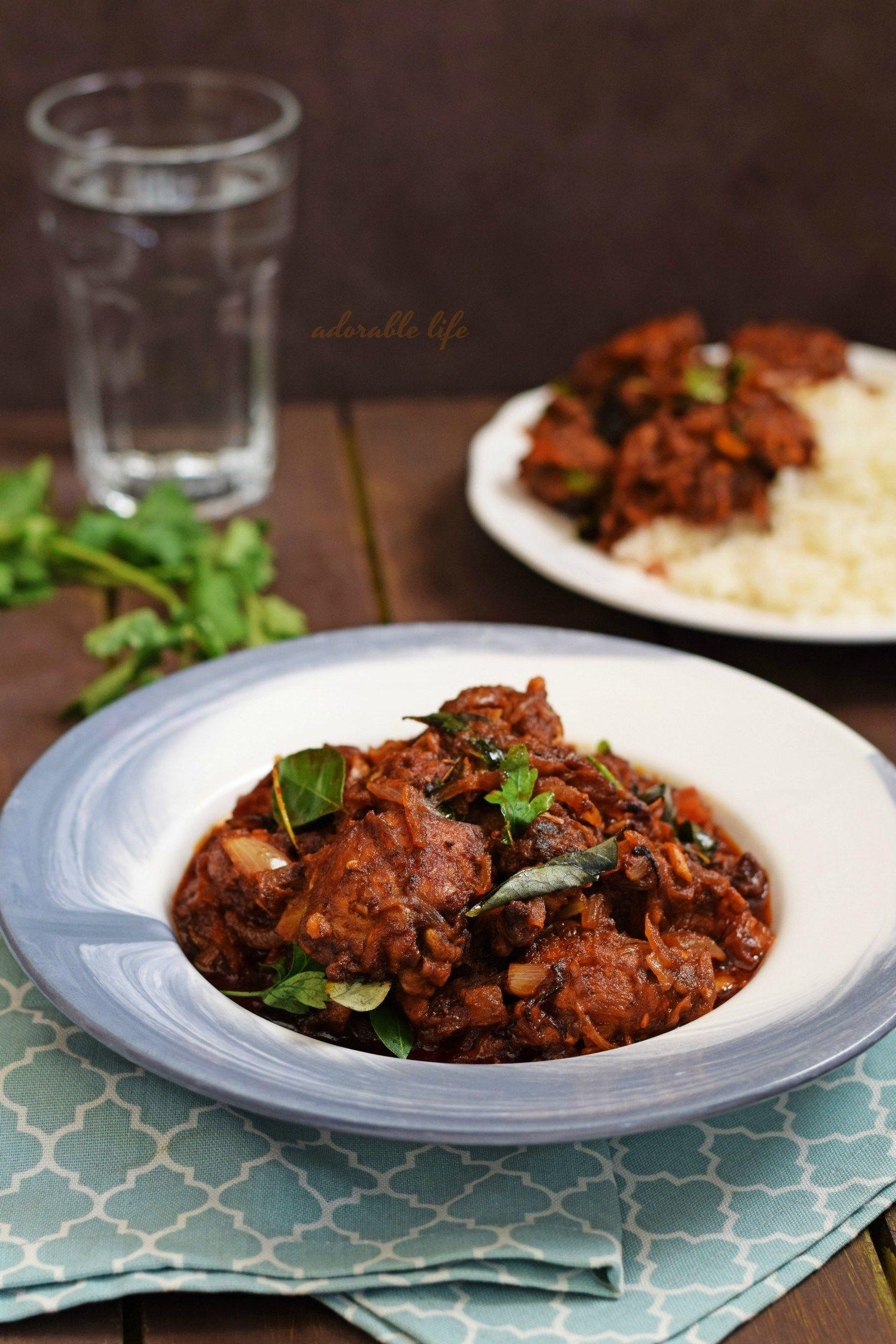 Kerala Style Spicy Chicken Roast   Spicy chicken, Food ...