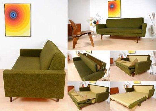 60s Style Furniture 60's danish sleeper sofa - modern homes interior design and