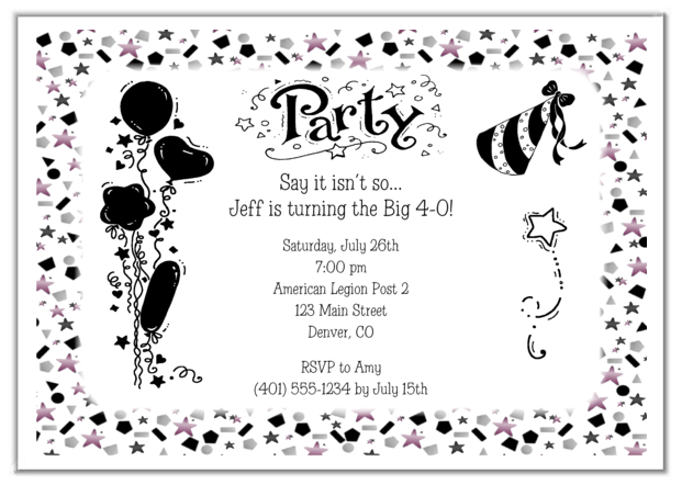 Top 25 ideas about OVER THE HILL – 40th Birthday Invitations Wording