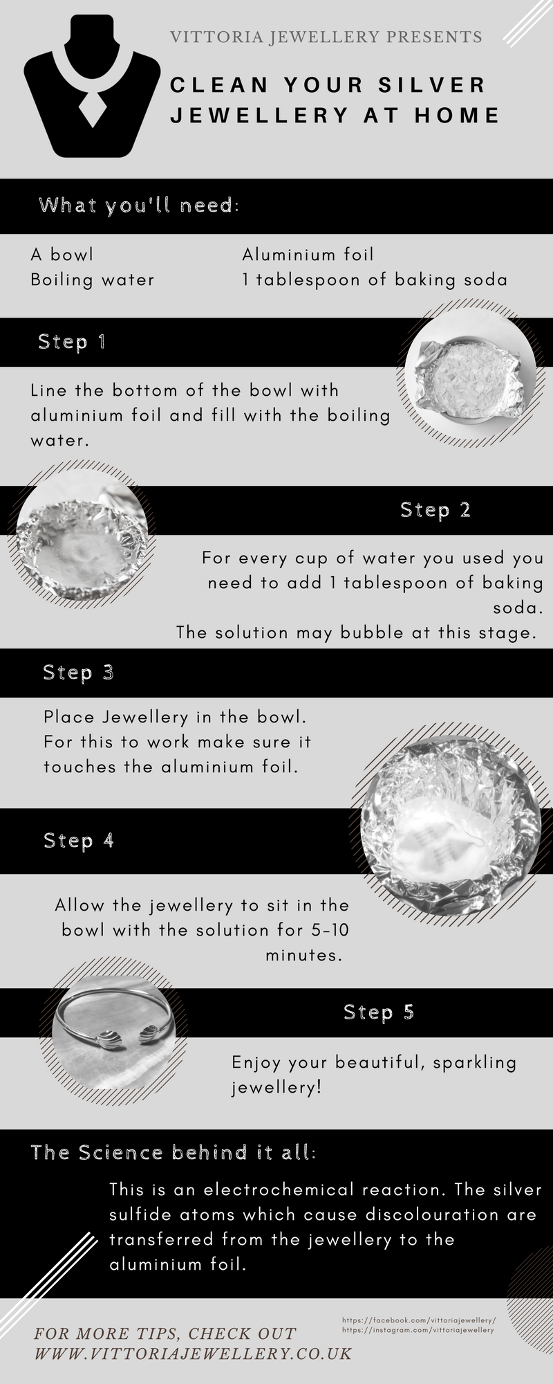 3a8230c4c13a How to clean silver jewellery (and other silver items) at home with just  baking soda