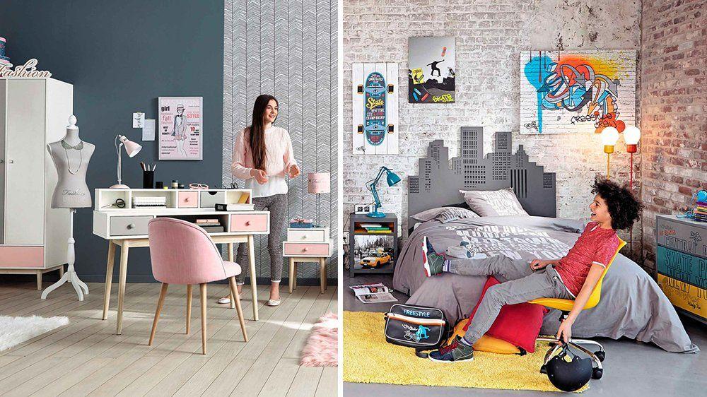 comment transformer une chambre d enfant en chambre d ado m6 ado fille ado et maison du monde. Black Bedroom Furniture Sets. Home Design Ideas