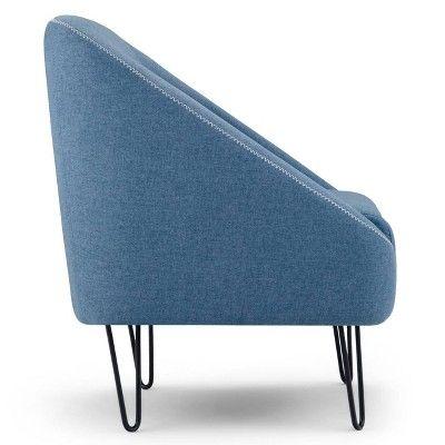 Best Ennis Mid Century Accent Chair Denim Blue Wyndenhall In 400 x 300