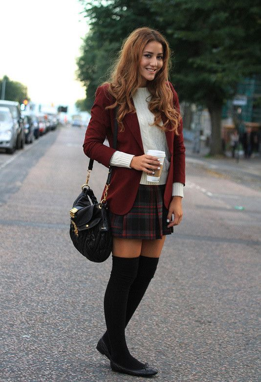 Crazy outfits · flats and knee-high socks - Summer/Spring Pieces You Can Wear This Winter High Socks, Knee