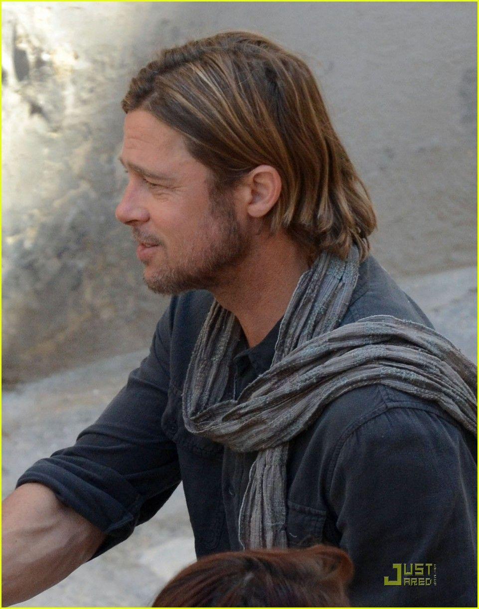 Brad Pitt World War Z Hair : world, Missy, Crenshaw, Favorite, Movie's, Actors, Hair,, Scarf, Fashion
