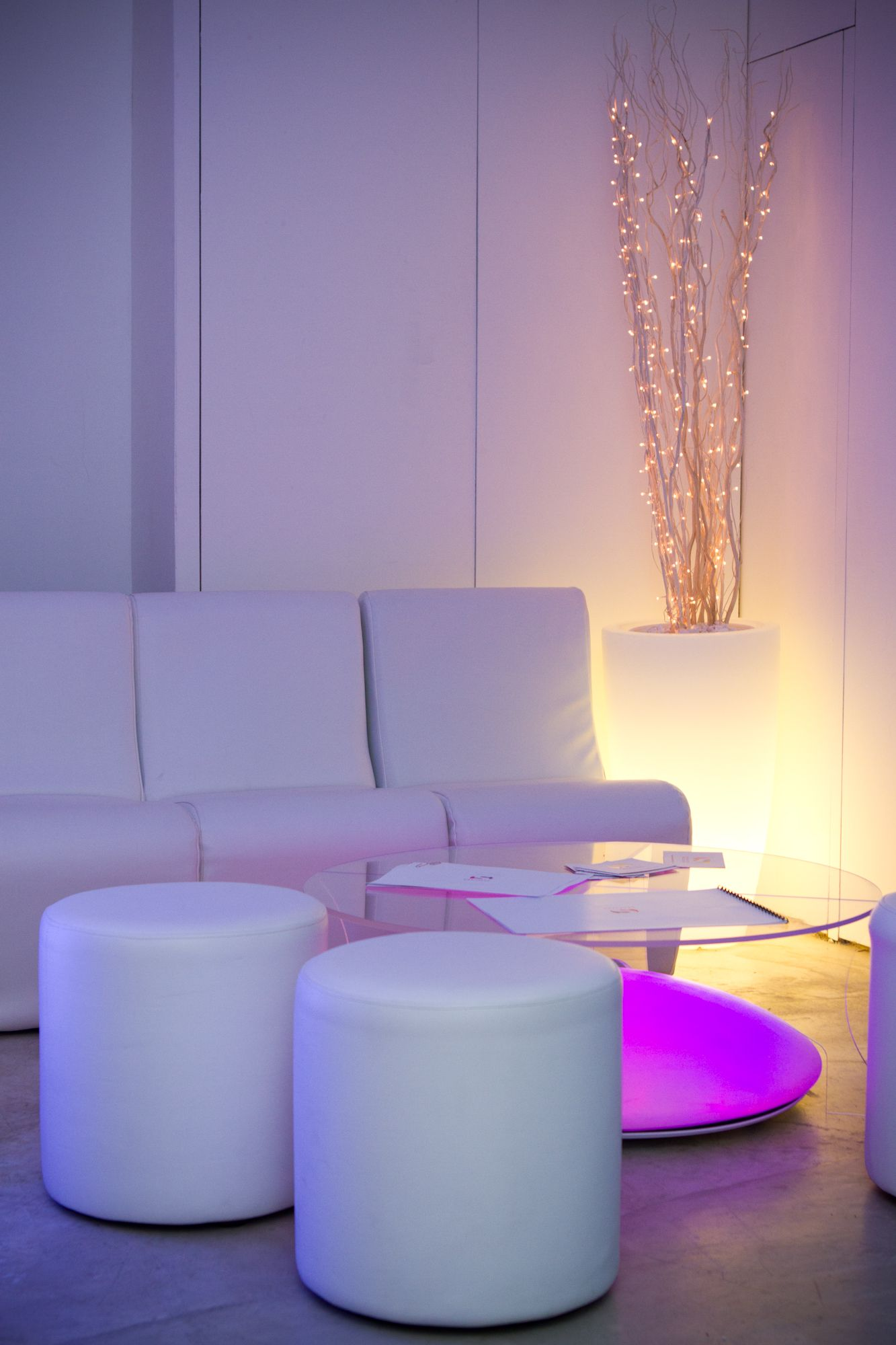 Comfy seating downstairs at the ICETANK launch party