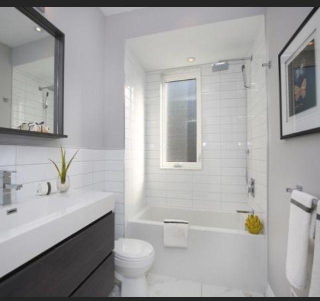 White long subway tile for family bathroom