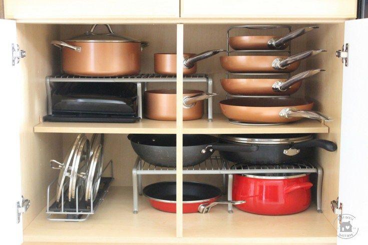 Kitchen Cabinet Organization, Under Cabinet Pot And Pan Organizer