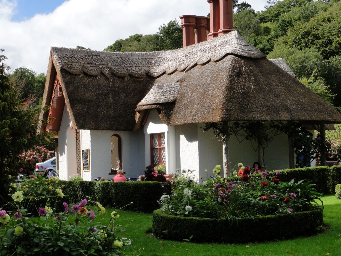 Rustic house teas house and thatched roof for Irish cottage plans