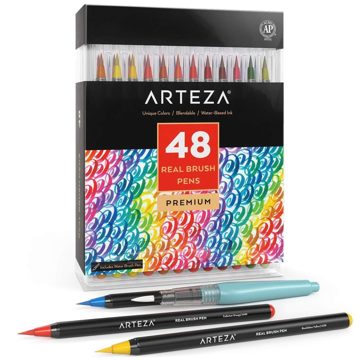 Real Brush Pens Set Of 48 Brush Pen Pen Sets Pen Watercolor