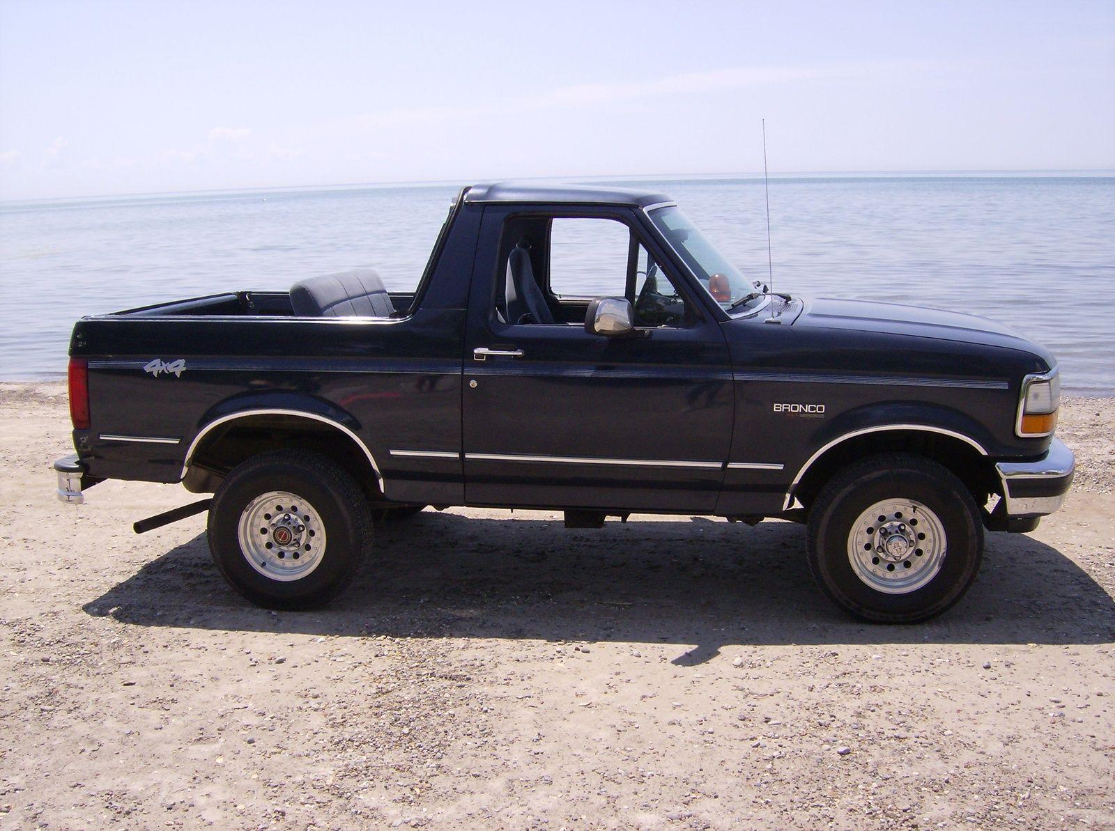 Black 1992 ford bronco suv