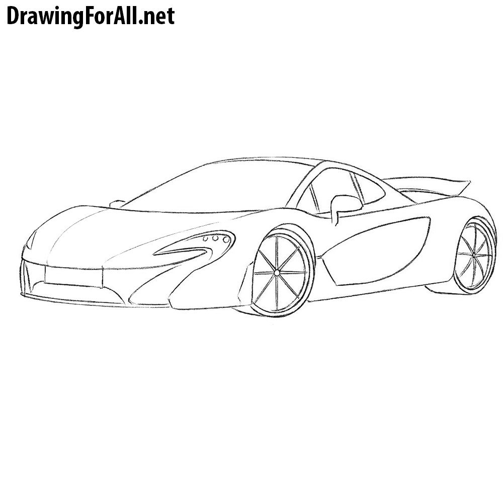 how to draw a mclaren p1 cars cool car drawings