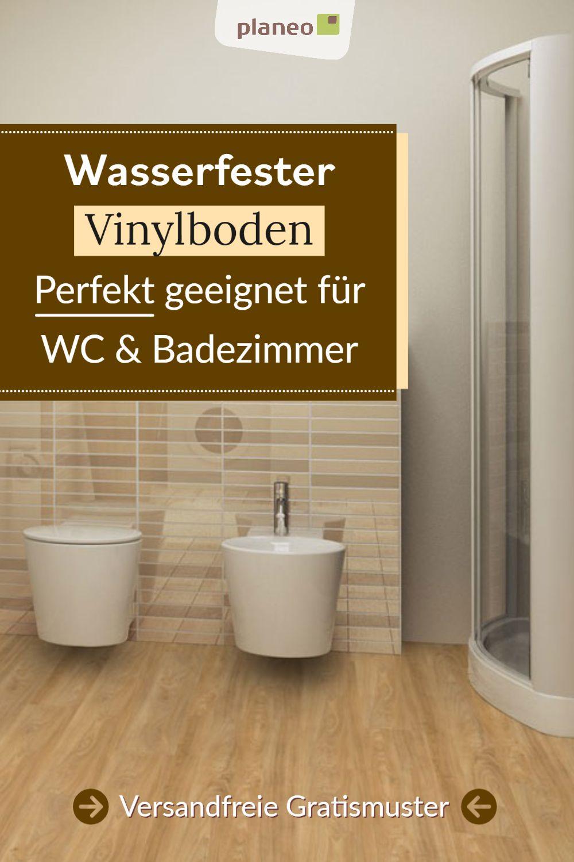 Vinylboden Fur Badezimmer Wasserfest Wie Fliesen Aber Fusswarm Geprufte Qualitat In 2020 Vinylboden Badfliesen Holzoptik Badezimmer Boden