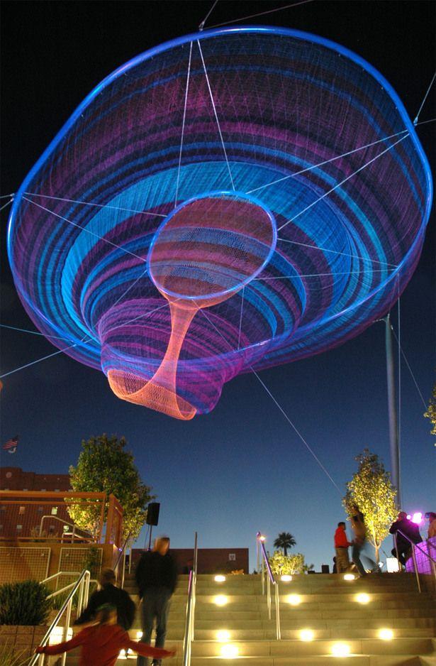 """Her Secret is Patience"" - Phoenix Civic Space Sculpture by Janet Echelman"