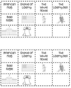 b>American Symbols For Kids Worksheet American symbols match up</b ...