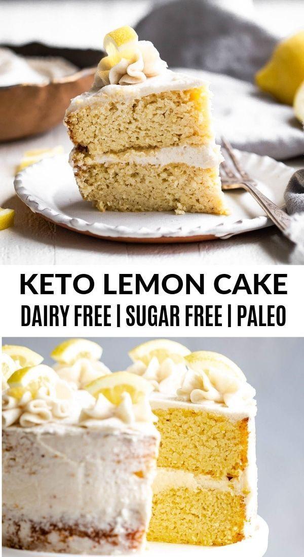 Sugar Free Lemon Cake -