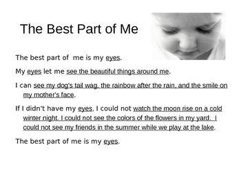 best part of me freeverse poem pinterest poem language arts