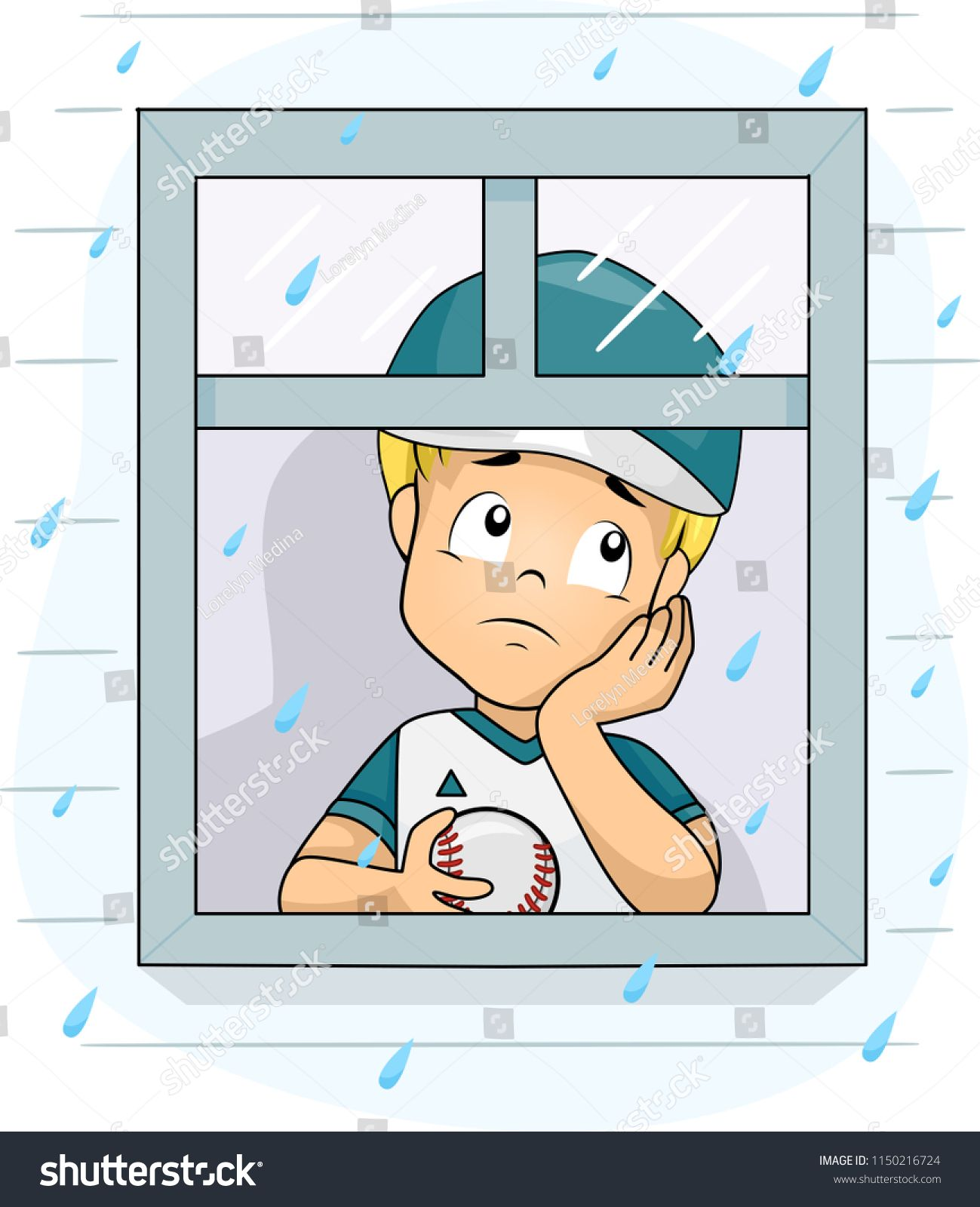 illustration kid boy wearing baseball uniform Royalty Free ...