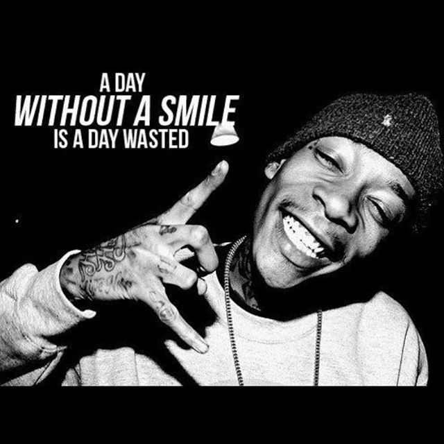 a day without a smile is a day wasted wiz khalifa quotesrap - Wiz Khalifa Quotes