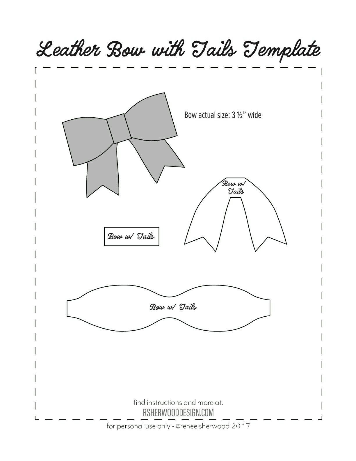 Molde de lazo de papel. | Moños | Bow template, Bows y Hair bows
