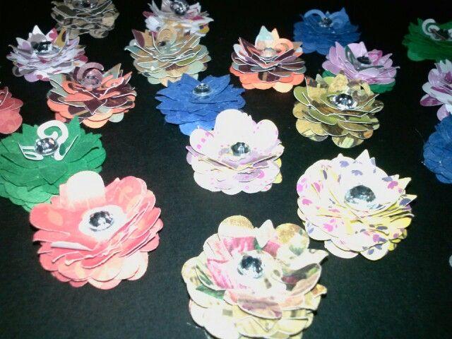 Handmade paper flowers by NiEs N Easy Designs!