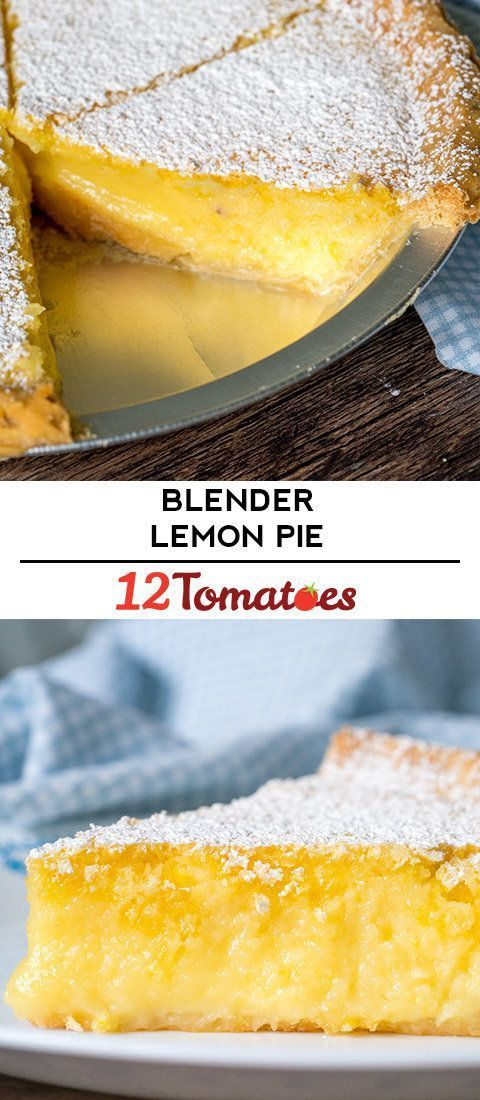 6-Ingredient Blender Lemon Pie - Blender - Ideas of Blender -  6-Ingredient Blender Lemon Pie