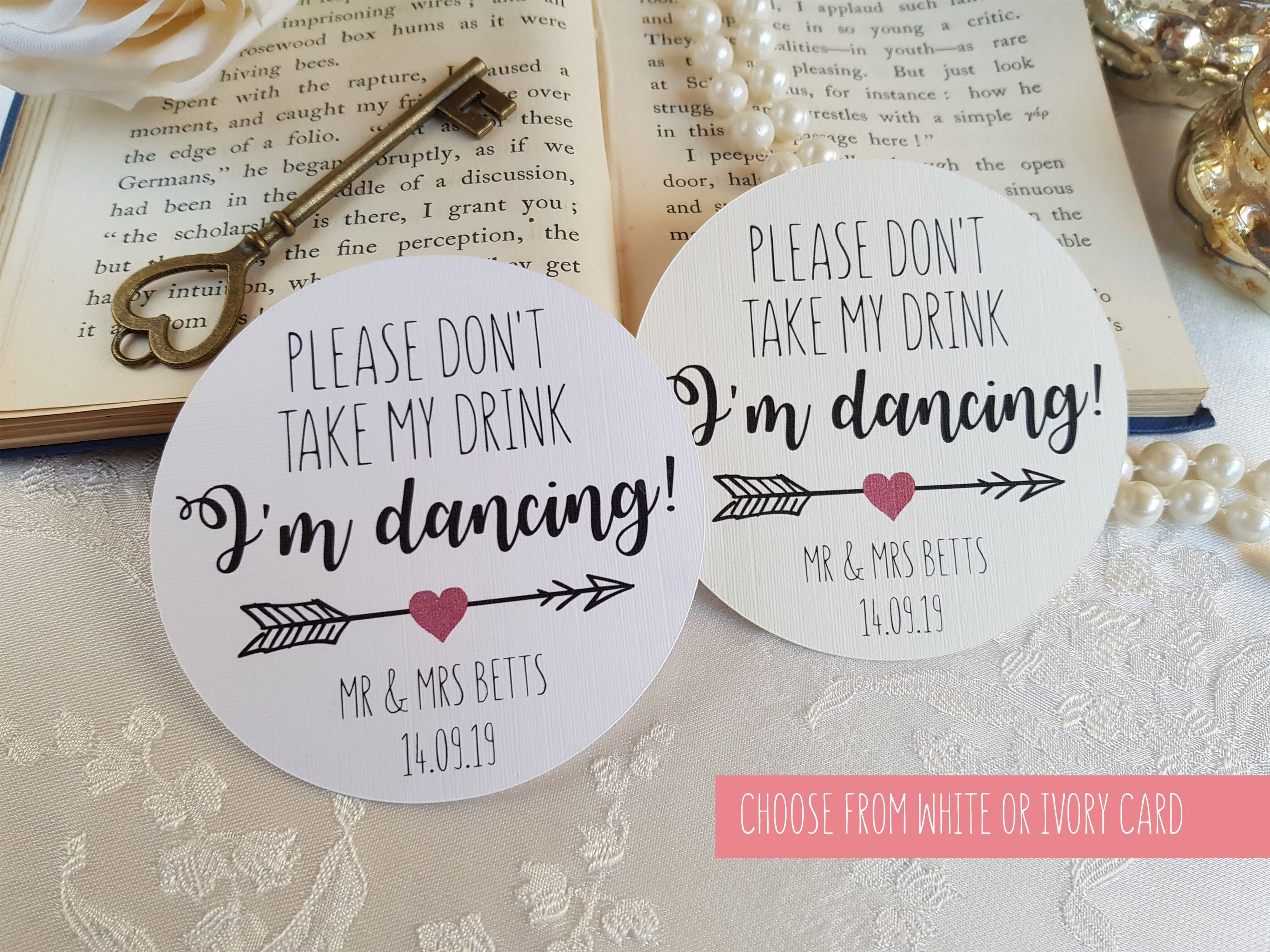 Please Don\'t Take my Drink Coasters - Wedding Coasters - I\'m Dancing ...