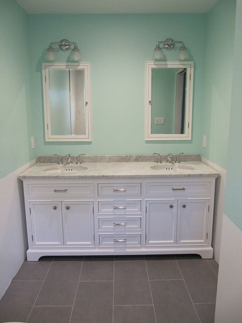 My bathroom: Kent vanity and medicine cabinets by Restoration ...