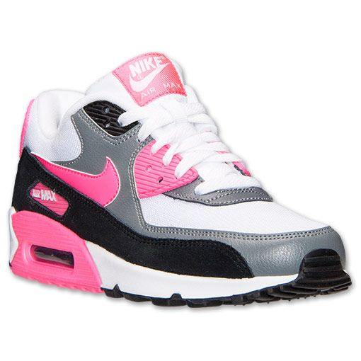 the best attitude 295f9 373ea ... denmark womens nike air max 90 essential running shoes finish line white  hyper pink cool grey