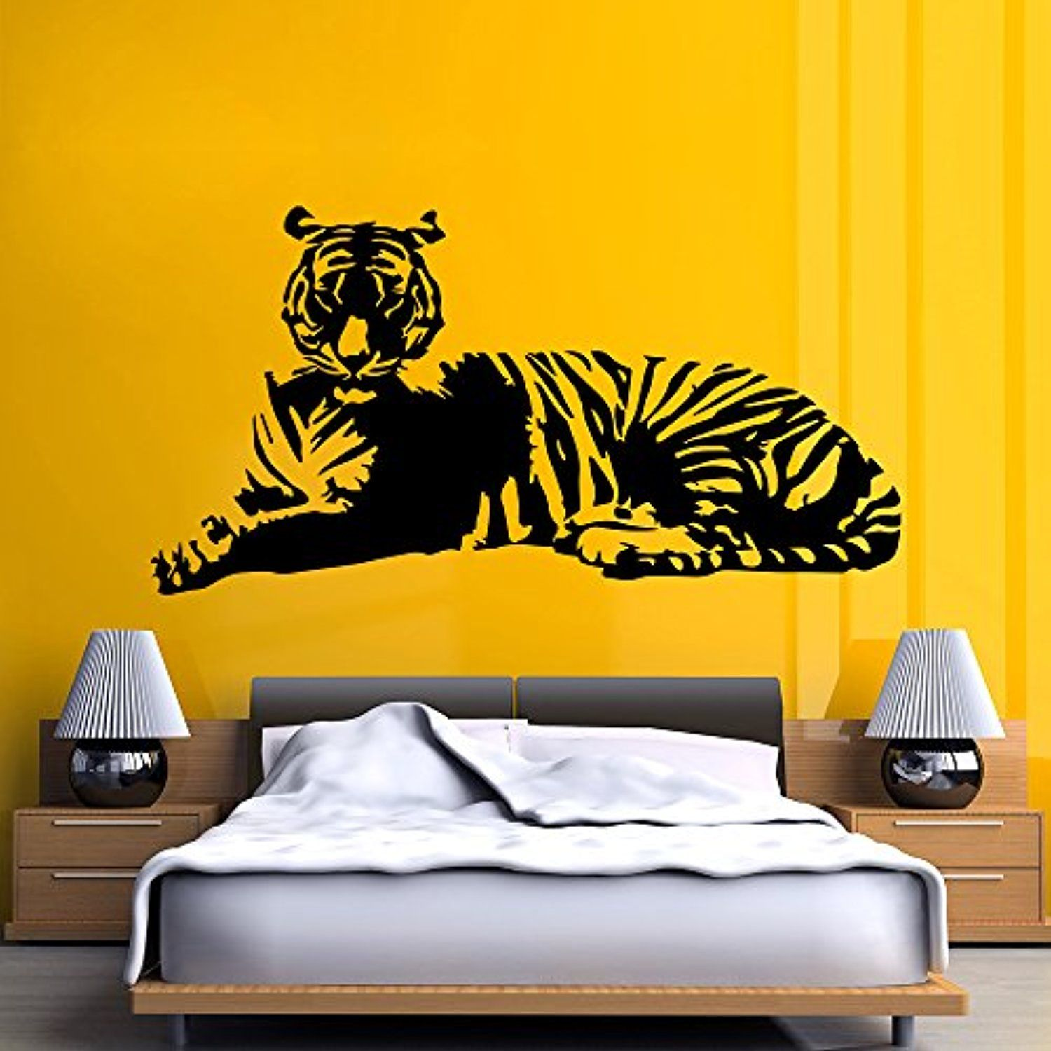 Tiger Vinyl Art Wall Decals Nursery Design Stickers Wild Animal Kids ...