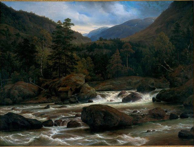 Thomas Fearnley (1802-42), Torrent - 1841