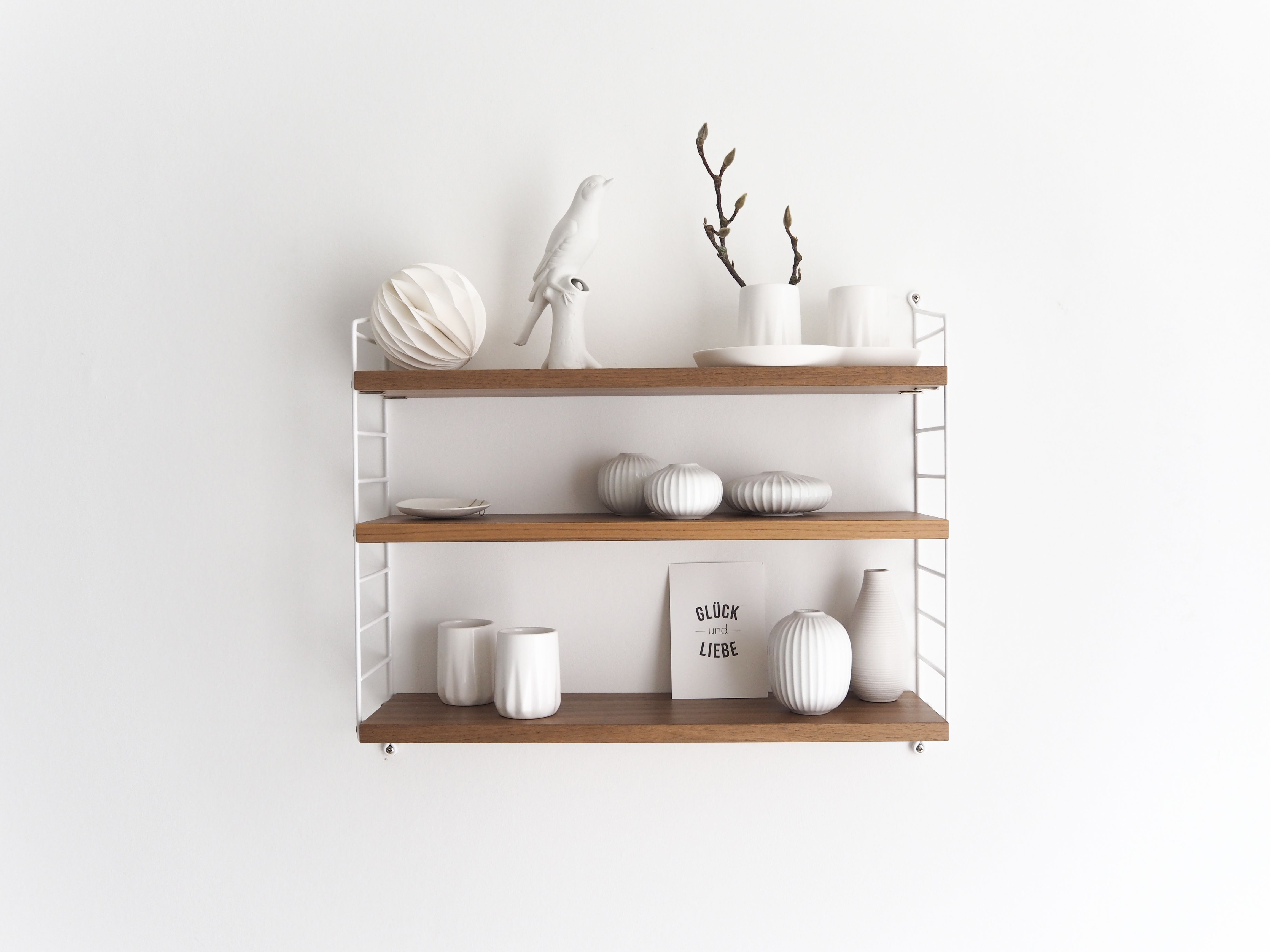 weie deko fr das string pocket regal shelfie regaldeko - Tolles Dekoration String Pocket Regal