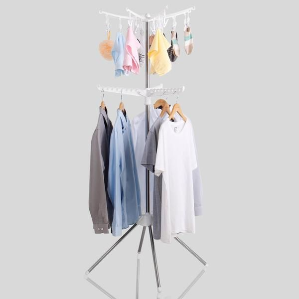Lifewit Portable 2 Tier Collapsible Clothes Drying Rack With