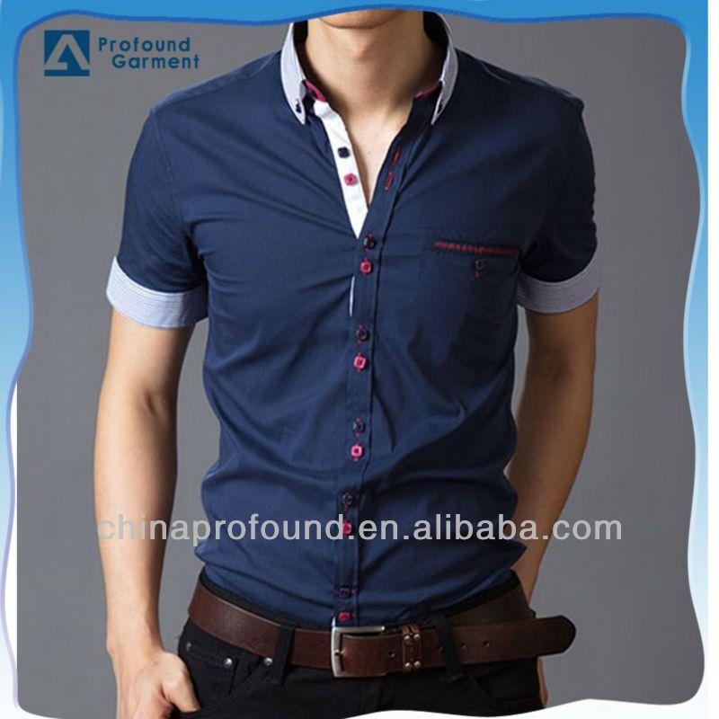 Wholesale Luxury Stylish Button Short Sleeve Casual Dress Slim Fit ...