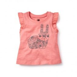 Kharagosa Graphic Tee  for Baby Girls | Tea Collection