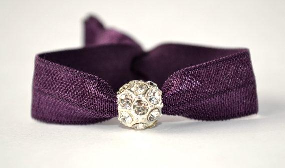 Elegant hair tie with crystal charm. No crease hair ties 8ad876af7cc