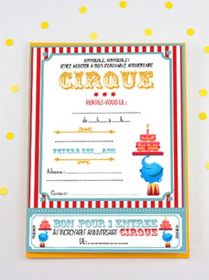 invitation anniversaire cirque cirque circus birthday. Black Bedroom Furniture Sets. Home Design Ideas