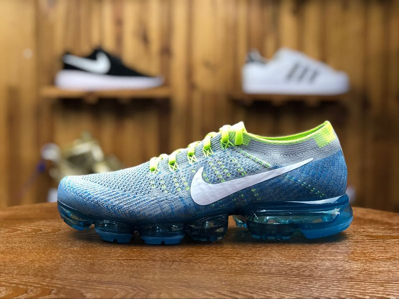blue and green vapormax