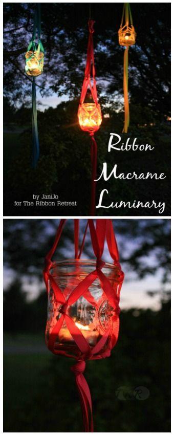 Ribbon Macrame Luminary Tutorial - The Ribbon Retreat Blog