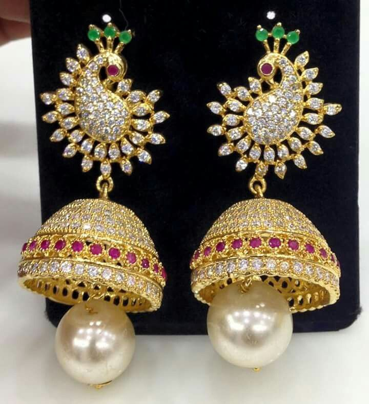 8808f6204d2d2 One gram gold jumkha | Creative | Wholesale gold jewelry, Jewelry ...