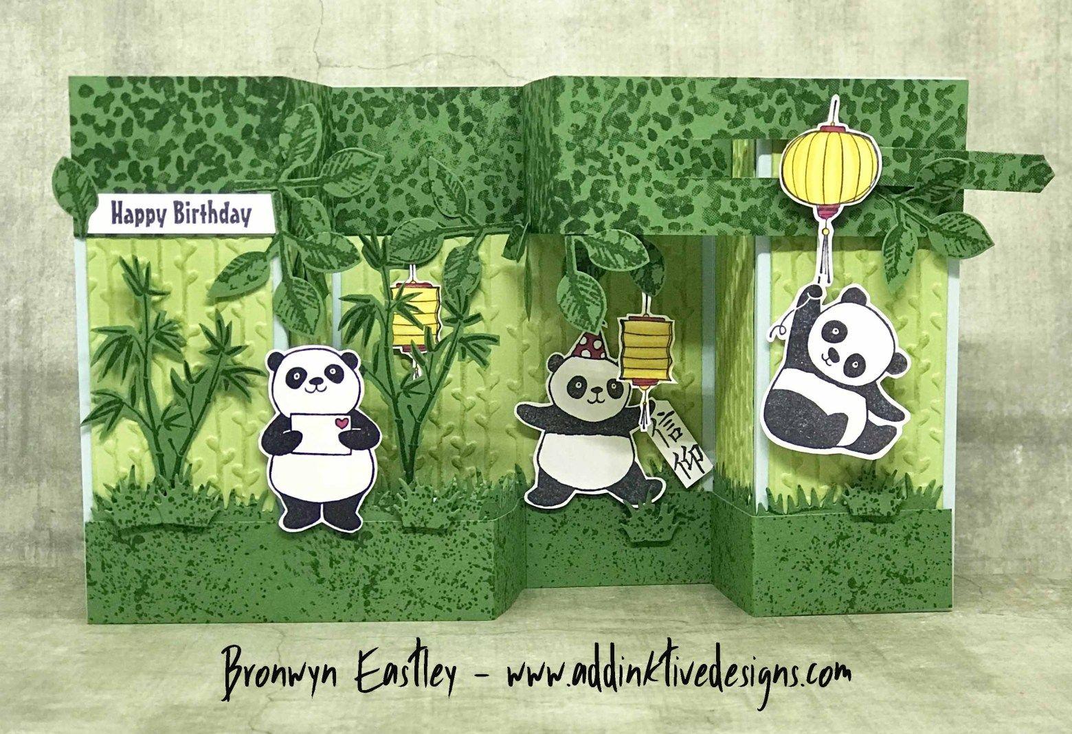 Party Pandas Double Pop Up Gate Fold Box Card Tutorial Box Cards Tutorial Fancy Fold Cards Panda Card