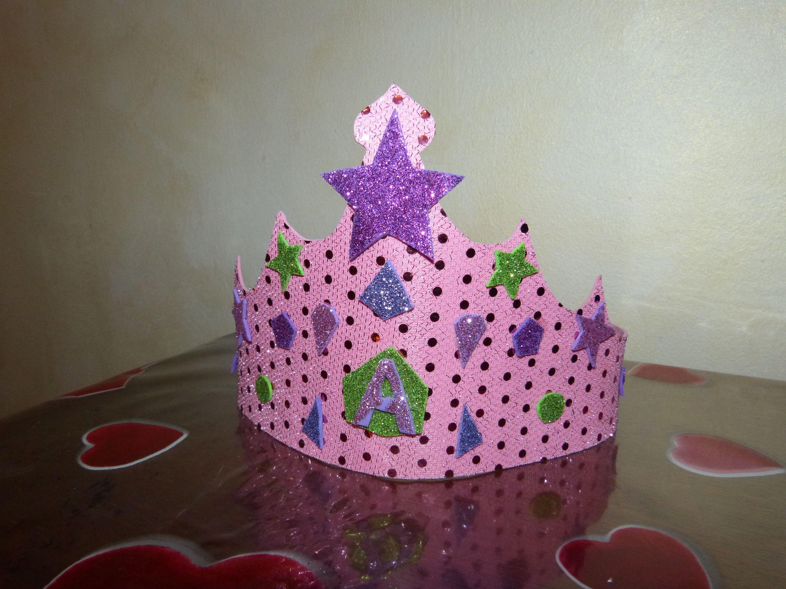 corona compleanno gomma crepla foamy birthday crown corona de cumple en goma eva