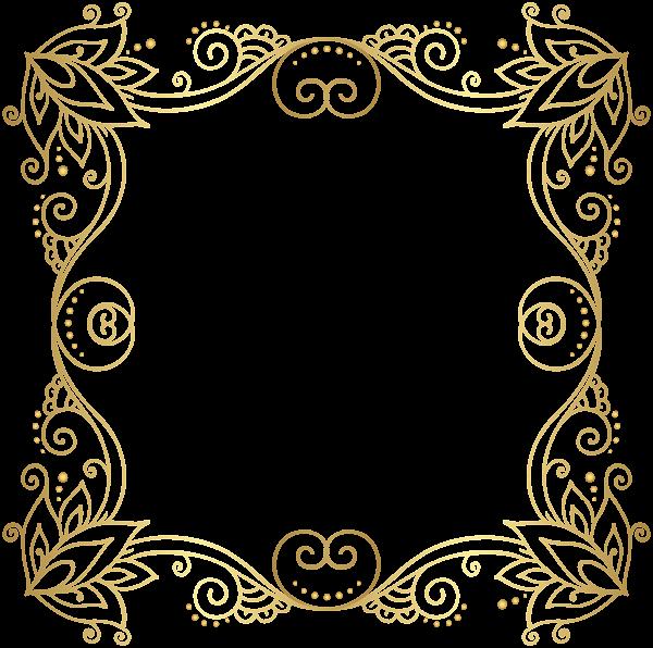 Gold Border Frame Png Clip Art Image Clip Art Frames Borders Art Images Gold Border Design